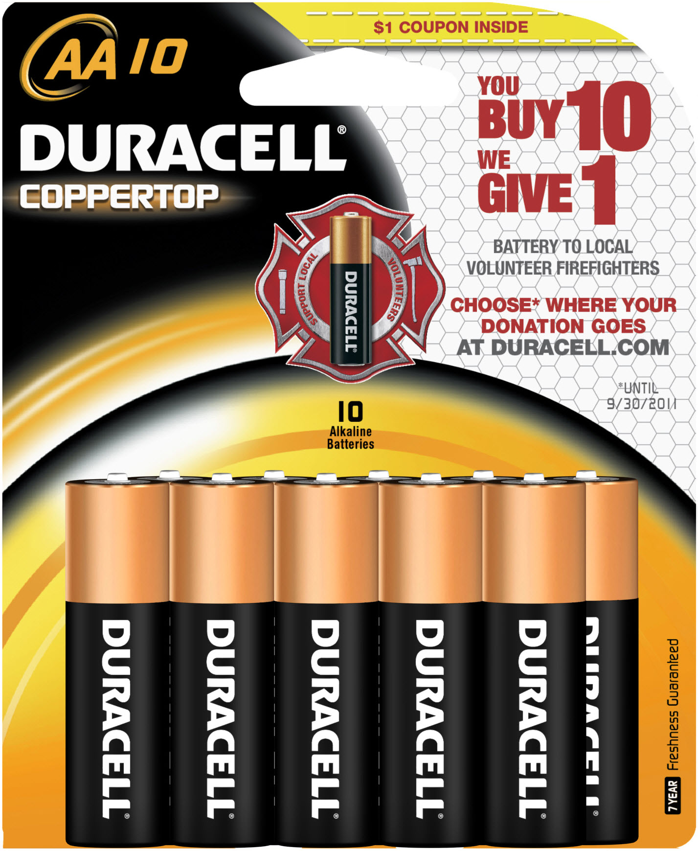 Duracell buy 10 give 1